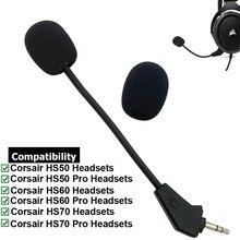 Auriculares de juego para Corsair HS50 HS60 HS70 Pro SE, micrófono de espuma de juego, Aux, 3,5mm, chapado en oro