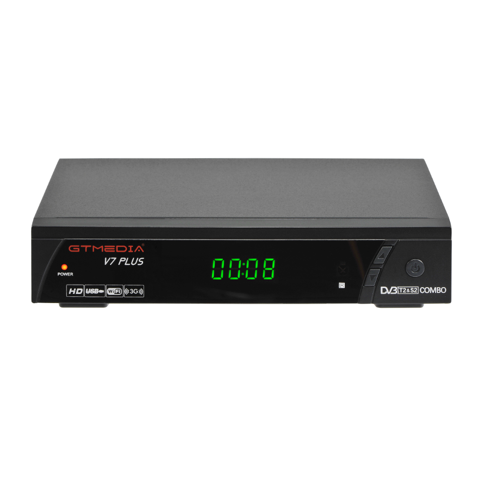 GTMedia V7 plus <font><b>Satellite</b></font> <font><b>Receiver</b></font> <font><b>DVB</b></font>-<font><b>S2</b></font> <font><b>DVB</b></font>-T2 H.265 Built-in WiFi with 1 Year Spain Europe <font><b>Cccam</b></font> upgrade v7 hd v7s hd <font><b>TV</b></font> <font><b>Box</b></font> image