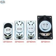 YuXi 1 adet dizüstü hoparlör boynuz 2 W 4R 8R 4020 3520 5030 hoparlör 4 8 ohm 2 Watt 50*30 35*20 40*20mm kalınlığında 5mm 5.4mm