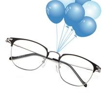 Reven Jate 3389 tam jant kare şekli alaşım erkek gözlük çerçevesi reçete adam gözlük Rx katlanabilir gözlük gözlük çerçevesi
