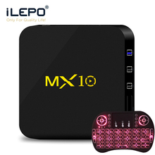 MX10 Android 8.1 Smart TV Box RK3328 Quad Core 64bit 4GB 32GB HD 2.0 Wifi 100M LAN VP9 4K media box Set-top PK X96 mini