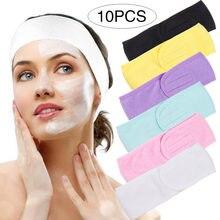 1/2/5/10 pçs cílios extensão facial bandana compõem envoltório cabeça pano rosto lavagem feminino ajustável lenço com fita mágica