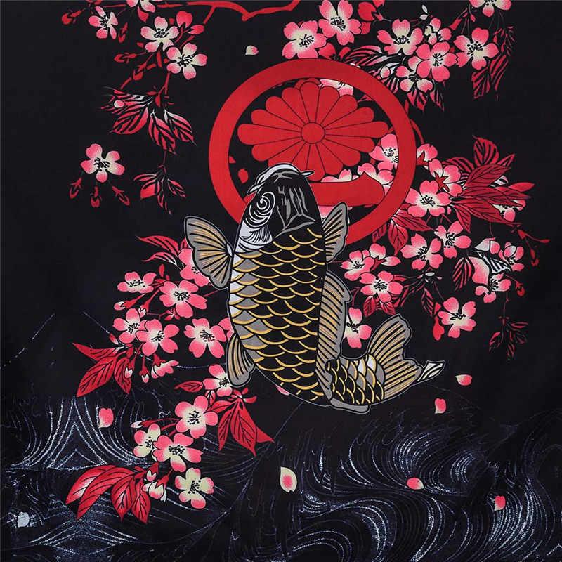 Yukata haori hombres kimono japonés cardigan hombres samurai traje ropa kimono Chaqueta Hombre kimono camisa yukata haori
