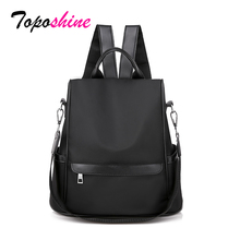 Toposhine Multifunction Women Backpacks Solid Shoulder Bags Black Oxford Female High Quality for Drop Ship