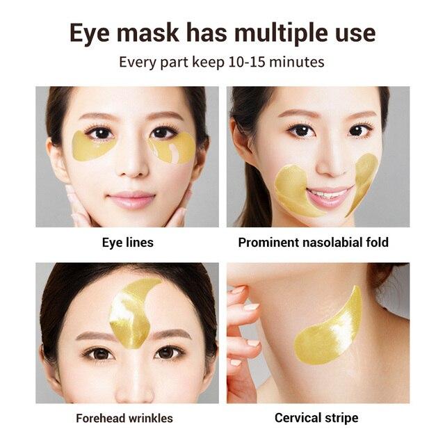 LANBENA Eye Mask Gel Retinol Gold Collagen Eye Patch Reduce Dark Circles Puffy Eyes Fine Lines Anti Aging Moisturizing Eyes Care 4
