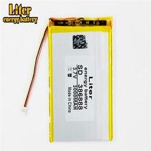 3 thread 386888 3.7V 3000MAH 357090 Universal Li ion battery for tablet pc 7 inch 8 inch 9inch