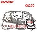 Полный комплект прокладок CG200 для мотоцикла Honda 200cc CG 200, уплотнительные детали двигателя включают прокладку цилиндра, воздушное охлаждение, ...