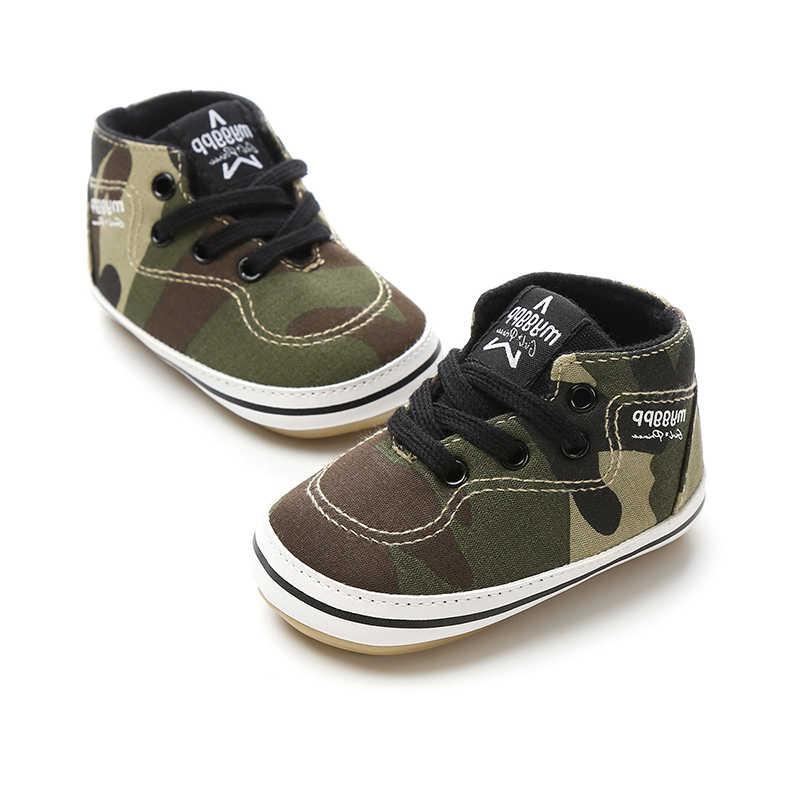 Camo เด็ก Casual เด็กรองเท้าเด็กรองเท้าเด็กรองเท้าผ้าใบเด็กวัยหัดเดินรองเท้ารองเท้าวิ่งรองเท้า 0-18 เดือนเด็กรองเท้าผ้าใบ