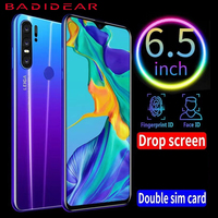 3gb+32gb Cheap Phone Smartphone Android 4G P30pro Cellphones 6.5 Inch Dual Sim Unlocked Water Drop Screen