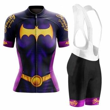 Vezzo Mujer Ciclismo Jersey de manga corta bicicleta traje verano Camisetas de...