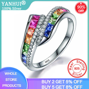 opening design natural blue tanzanite gem ring natural gemstone ring s925 silver trendy triangle snake women party gift jewelry YANHUI Silver 925 Jewelry Ring Trendy Luxury Sapphire Gemstone  Ring For Women 925 Solid Silver Rings Jewelry Wedding Party Gift