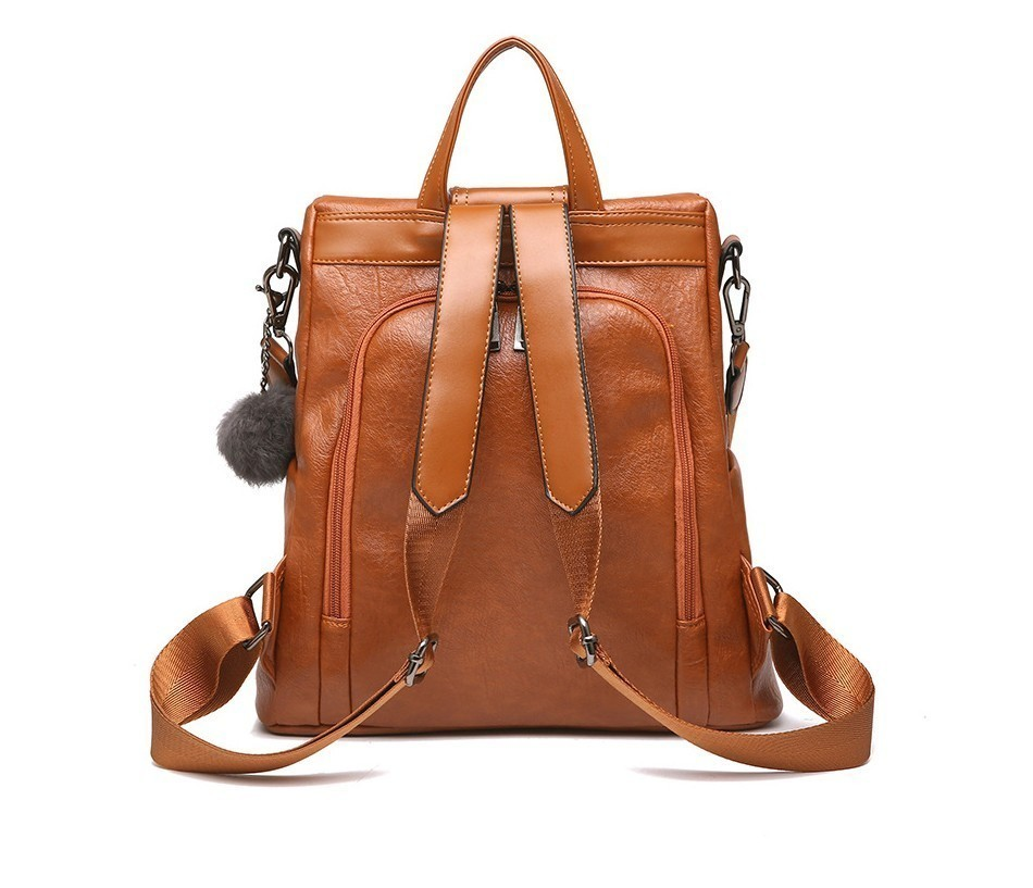 Hd3513d786095460ba9e43119491eb939A HERALD FASHION Quality Leather Anti-thief Women Backpack Large Capacity Hair Ball School Bag for Teenager girls Male Travel Bags