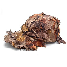 Hot outdoor camouflage tactical baseball cap hunting maple leaves round sniper sunscreen men and women models