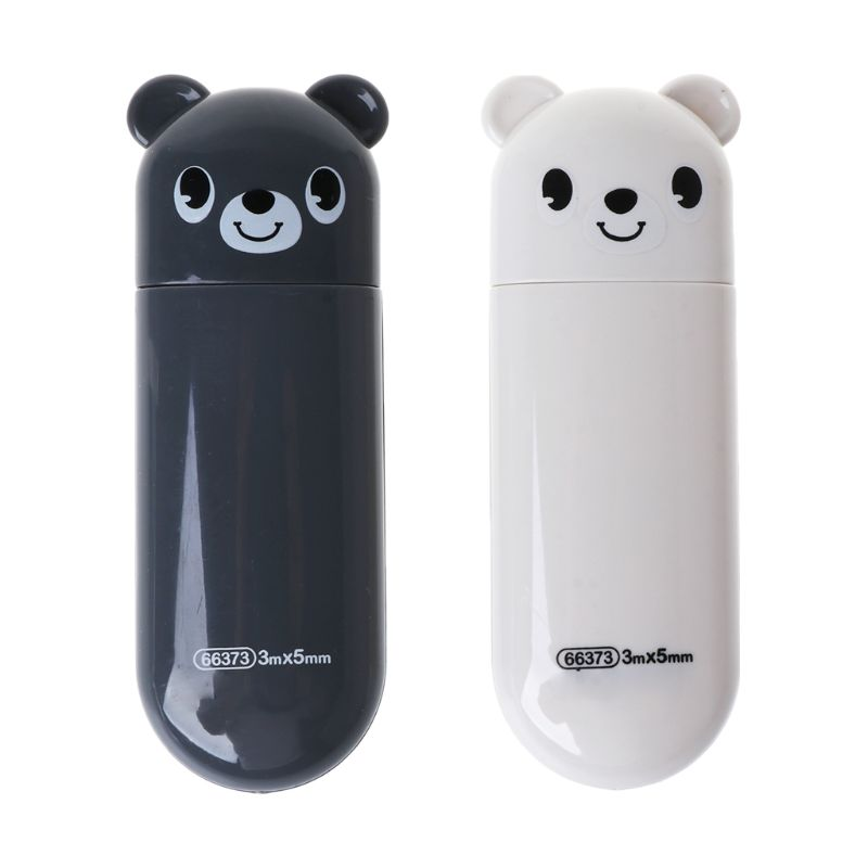 2 Piece Set Kawaii Bear Design Correction Tape Student Stationery School Supplies Office Accessories image