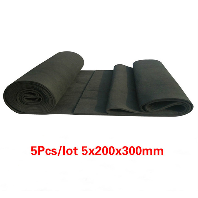5pcs New Arrival Soft Graphite Carbon Felt High Temperature Carbon Fiber For Contamination Adsorption Cleaning 5x200x300mm