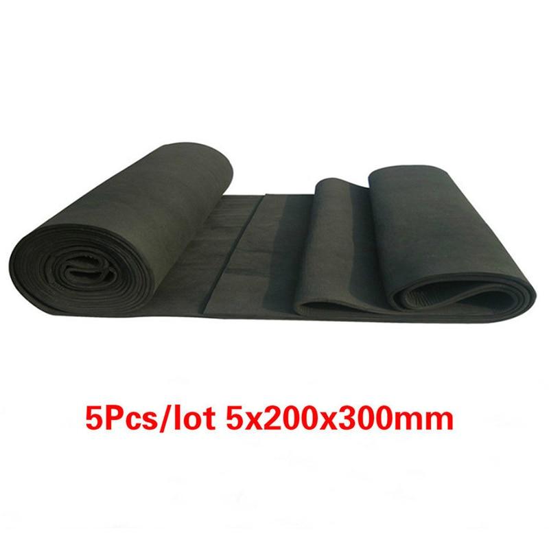 5pcs New Arrival Soft Graphite Carbon Felt High Temperature Carbon Fiber For Contamination Adsorption Cleaning 5x200x300mm