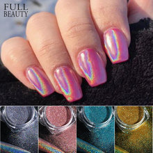 Holographicผงเล็บเล็บเลเซอร์Silver Glitter Chromeเล็บผงDIP Shimmer GEL Flakesทำเล็บมือPigment CH1028-4(China)