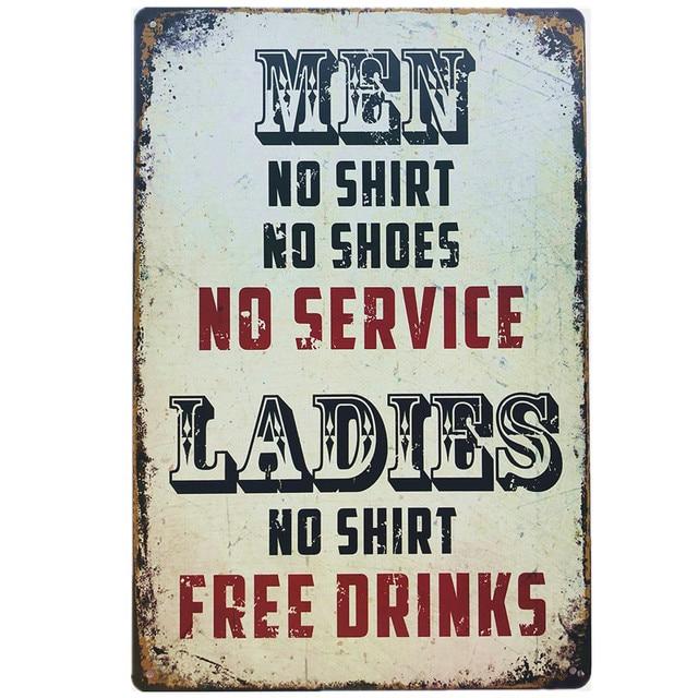 Vintage I Love Beer Metal Tin Signs Pub Tavern Wall Decor for Bar Pub Club Man Cave Retro Metal Art Posters