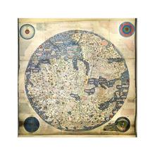 World Map Retro Style Non-woven Foldable Waterproof 90x90cm HD For Trip and Travel
