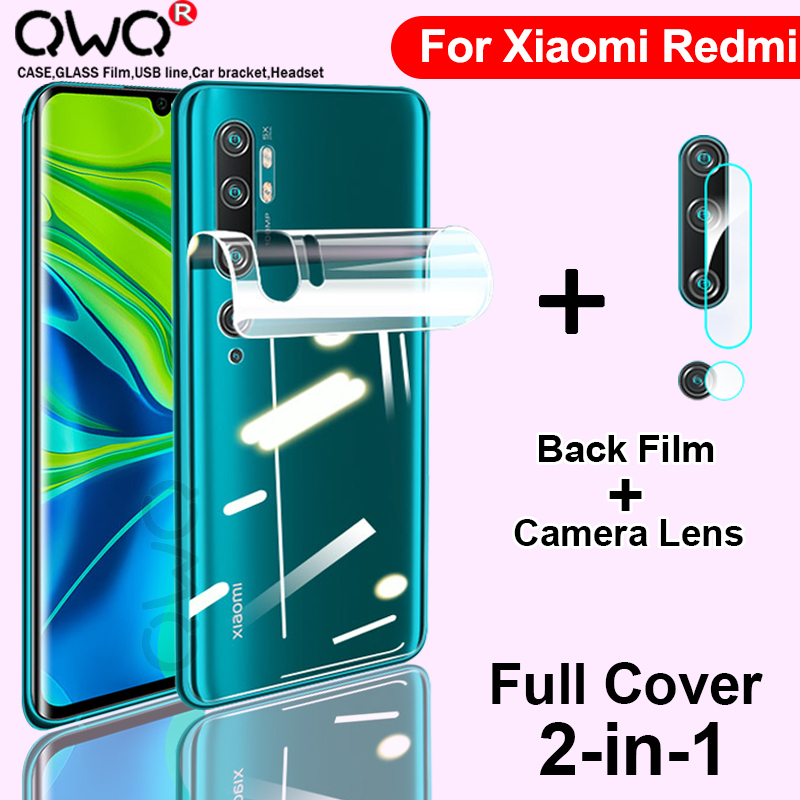 Full Cover HD <font><b>Hydrogel</b></font> Film For Xiaomi mi Note 10 Lite <font><b>8</b></font> 9 SE 9T Pro Screen Protector <font><b>Redmi</b></font> Note 9S <font><b>8</b></font> Pro Back Camera Lens Glass image
