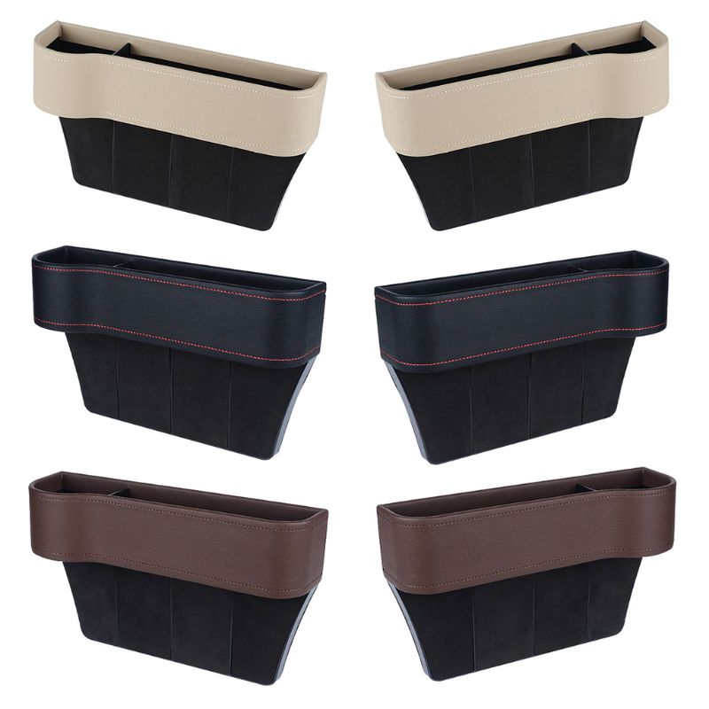 1 Pc Multifunctional Car Seat Organizer Filler Pocket PU Leather Auto Console Side Catcher Storage Box Holder Container