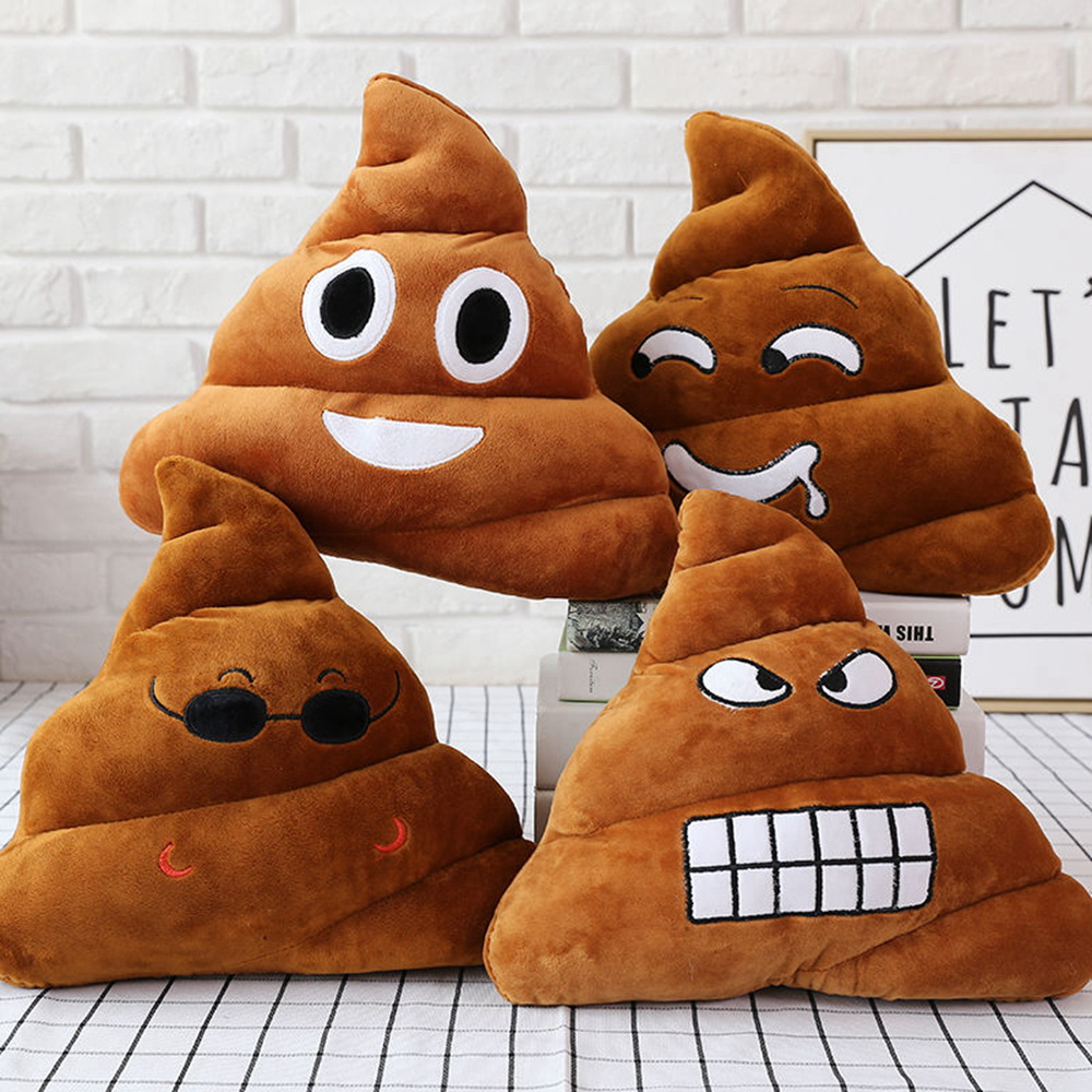 ZK20 Funny Poop Plush Toy Super poop stuffed toy Cute Smiley Poop Cushion Pillow Stuffed Kids Plush Toy Sofa Seat Pillow Toys