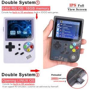 Image 2 - כפול מערכת לינוקס רטרו וידאו קונסולת משחקי 2.8 אינץ IPS מסך נייד כף יד משחק נגן RG300 32GB TF 13000 משחקים קלאסיים