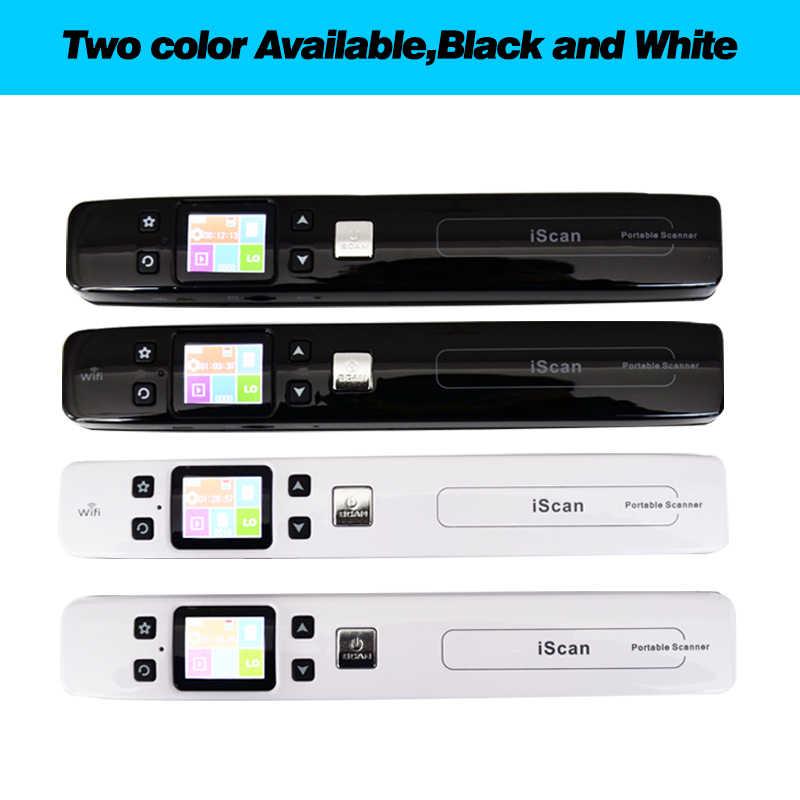 ミニ Iscan ドキュメント & 画像スキャナ A4 サイズ JPG/PDF ギ Wifi 1050 Dpi 高速 lcd ディスプレイ内蔵バッテリー