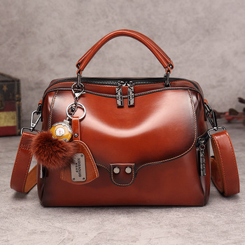 Women's Bags 2020 New Fashion Retro Boston Shoulder Bag Wild Messenger Bag High Quality PU Leather Ladies Hand Bags 2018 new retro fashion zipper ladies backpack leather high quality school bag shoulder bag for youth bags leather tassel