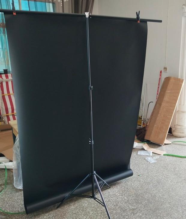 Fondos fotográficos profesionales ajustables en forma de T, sistema de soporte de Marco con abrazaderas