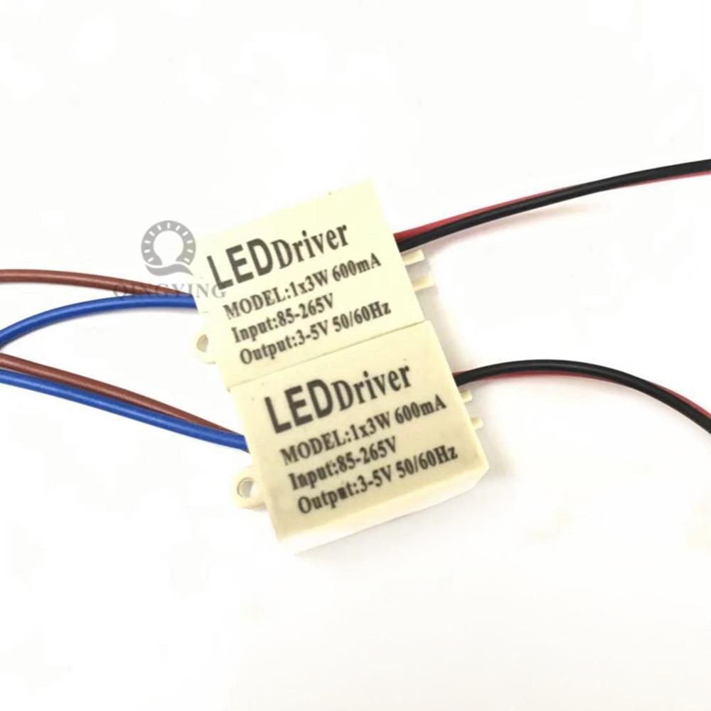 Hihg качества изоляции 600mA 1x3W Светодиодный драйвер 1x3W Питание DC 3V - 5V AC 110V 220V 265V для Светодиодный свет