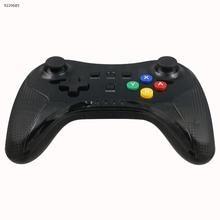 WII U Controller PRO Wireless headset for WII U Console-Wireless Bluetooth+Anti-skid Stripe+Color Key+Black Transparent Shell