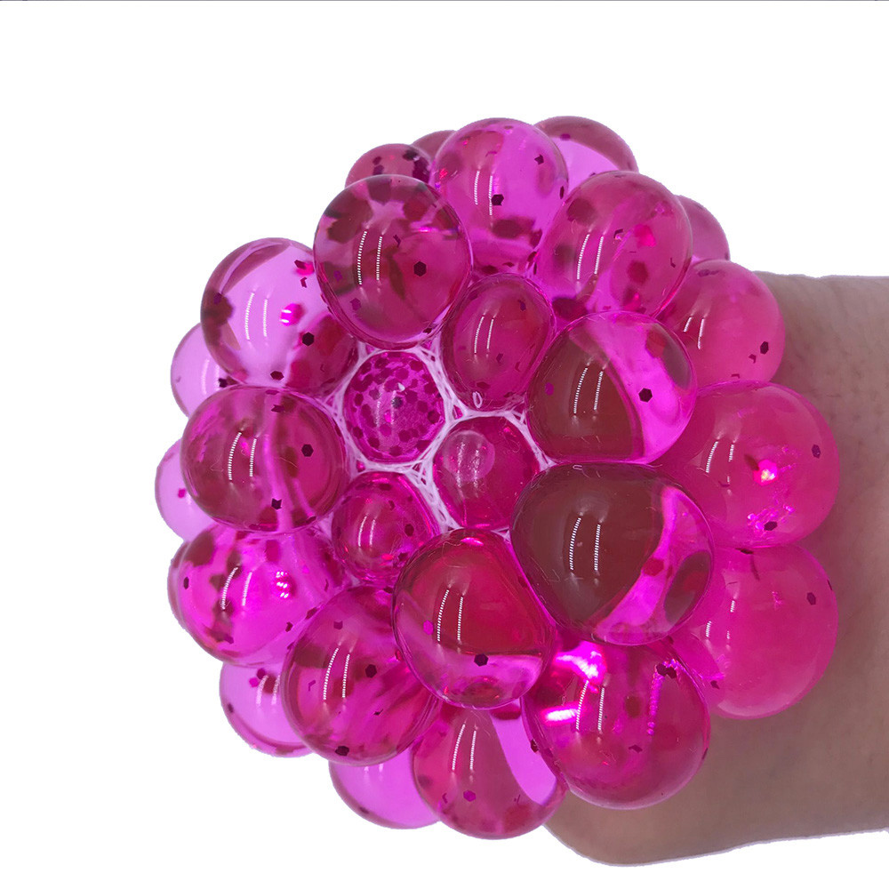 Toys Mesh Ball Squeeze-Grape Anti-Stress Fidget Gifts Things Prank Funny Adults Colorful img3