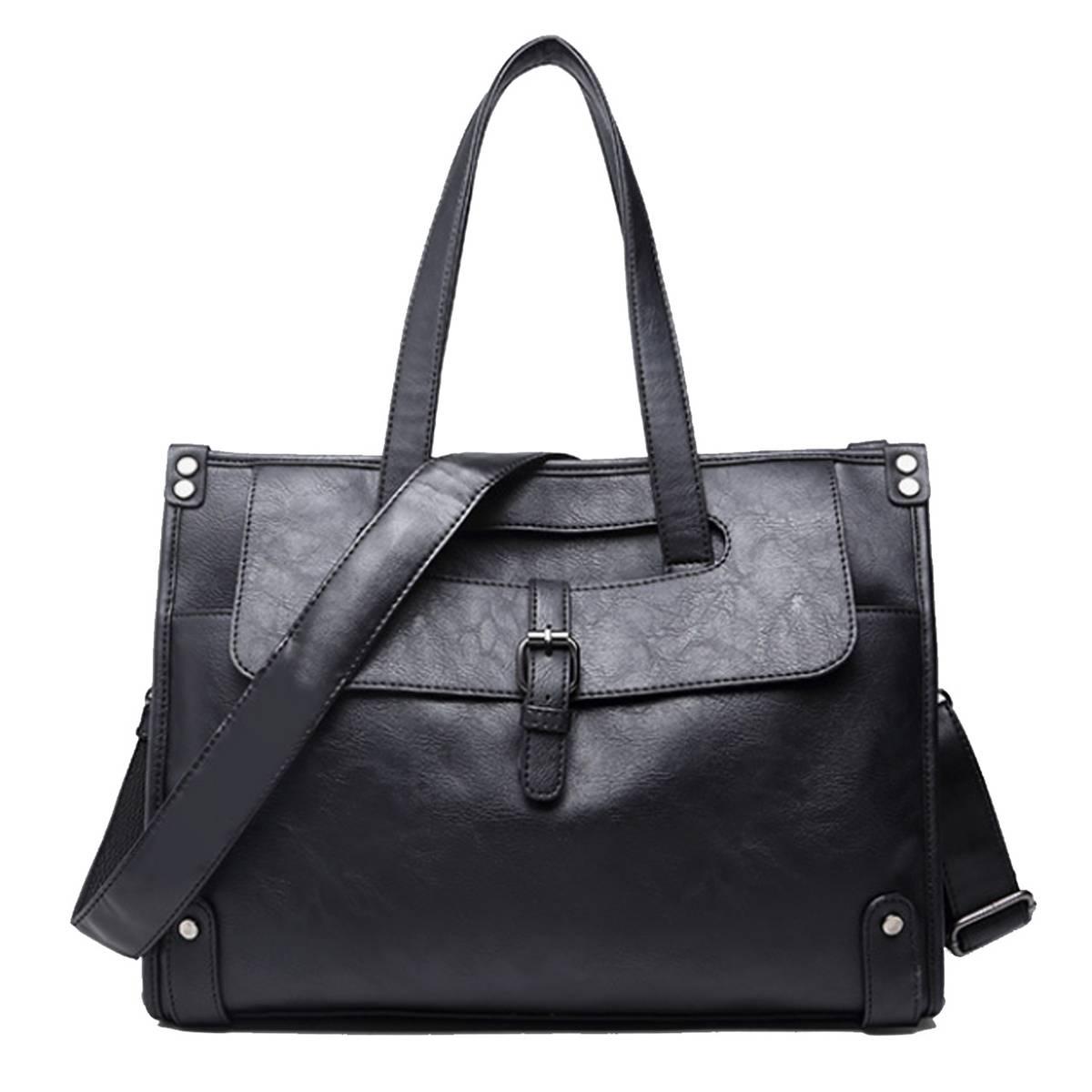 Business Men's Briefcases Men's Bag Leather Messenger Bags 14inch Laptop Bag Leather Handbag Fashion Crossbody Bag For Men New