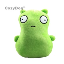 18 CM Anime Bobs Burgers Kuchi Kopi jouets en peluche poupée vert monstre Alien animaux en peluche jouets bébé enfants cadeau d'anniversaire décor à la maison