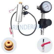 GX100 Iniettore Cleaner Tool Non Smontare Bottiglia Strumento di Riparazione con Pressure Gauge Universale Auto Auto a Benzina Sistema di Alimentazione