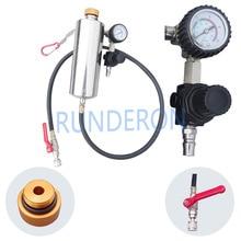 Gx100 injector ferramenta de limpeza não desmontar garrafa ferramenta de reparo com medidor de pressão universal carro gasolina sistema de combustível