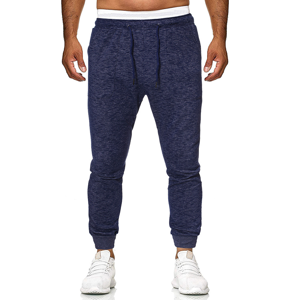 KLV 2019 Summer Fashion Men's Tracksuit Slim Fit Casual Sport Long Pants Trousers8.13