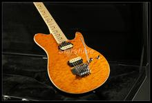 Ernie Ball Music man AXis eletric guitar  AAAAA grade quilted maple top floyd rose bridge