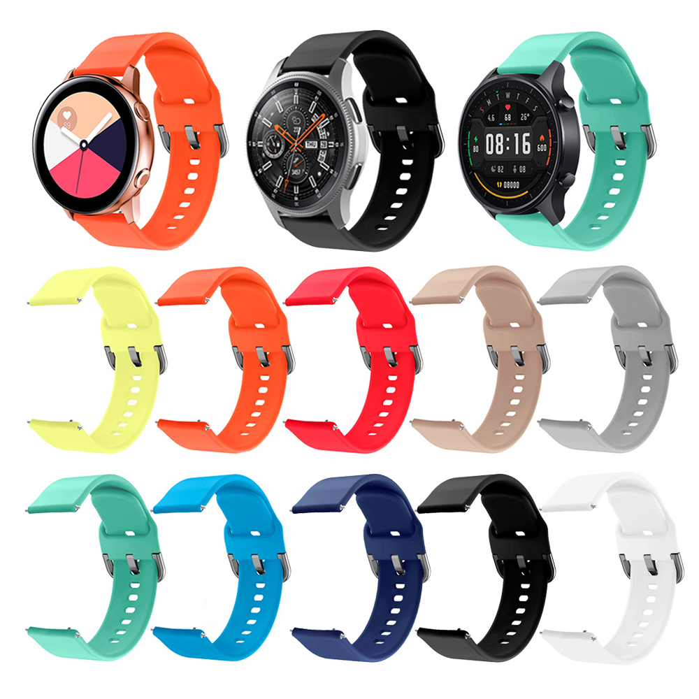 20mm 22mm Silicone Watchband For Samsung Galaxy 42mm 46mm S2 S3 Band Strap Bracelet For Huami Huawei Xiaomi Color Smart Watch