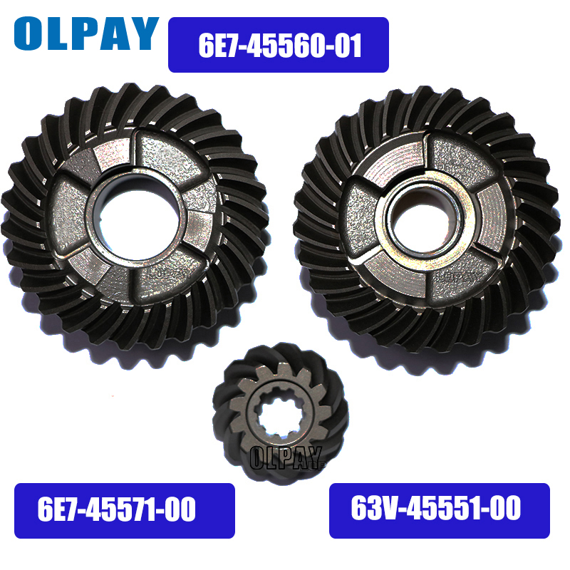 Gear Kit For Yamaha F15 4 Stroke 15HP Outboard Motor 6E7-45560-01  63V-45551-00  6E7-45571-00