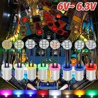 BA9S-Base de juego con cable Flexible, varios colores, sin polaridad, AC DC 6V 1206 V, bombillas Led, BA9S T4W #44 #47 8smd 6,3, 50 Uds.