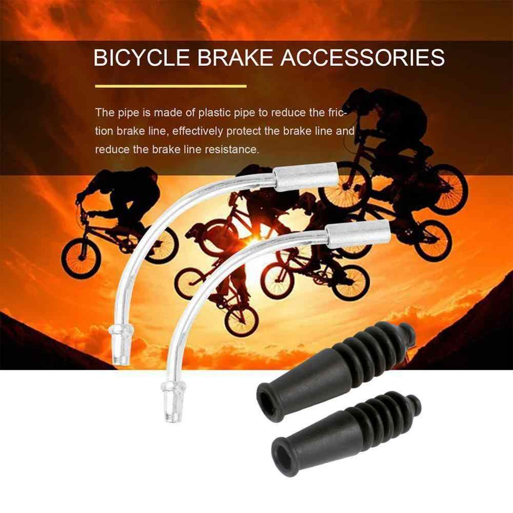V Brake Cable Guide Pipe Elbow with Rubber Boots for MTB Bicycle Bike Repair Kit