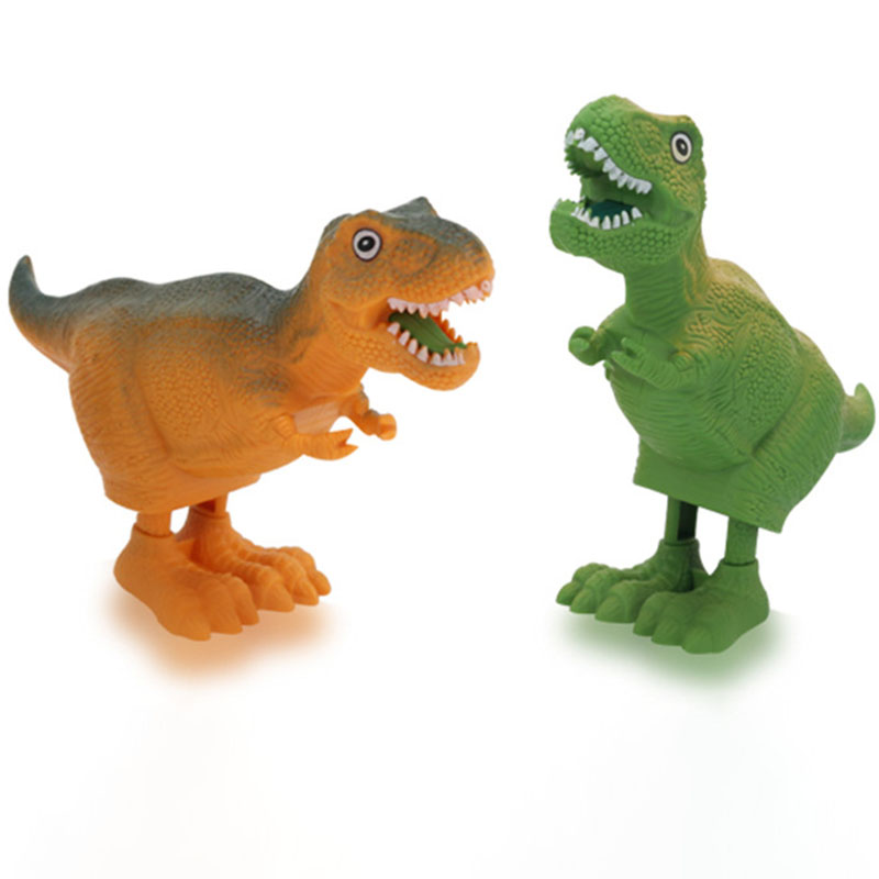 1Pcs Classic Plastic Clockwork Jump Dinosaur Toys Mini Cartoon Animal Wind Up Toys Exquisite Funny Gifts for Kids