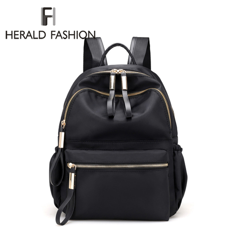 Herald Fashion Backpack Women Leisure Back Pack Korean Ladies Knapsack Casual Travel Bags for School Teenage Girls Bagpack Pakistan