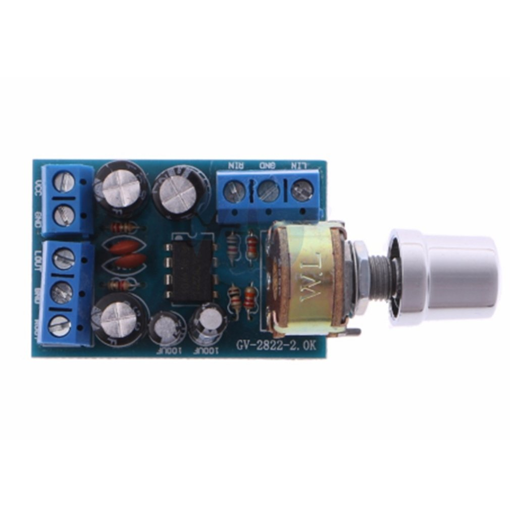 Small Size DC 1.8-12V TDA2822M 2.0 Channel Stereo Mini AUX Audio Amplifier Board Module AMP Module Parts