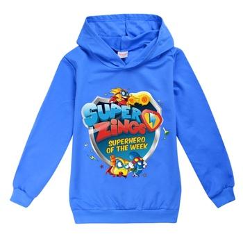 Dzieci dziewczyny chłopcy bluzy odzież wierzchnia super zings superzings bluza z kapturem dla dzieci maluch odzież topy dla 1-16 lat tanie i dobre opinie BIQUINI COTTON Poliester CN (pochodzenie) Aktywny Cartoon REGULAR Pełna Pasuje prawda na wymiar weź swój normalny rozmiar