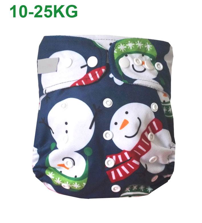 Large Size Reusable Washable Waterproof Printed Older Children Baby Cloth Diaper One Size Pocket Baby Nappies For10-23kg