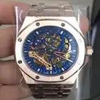 Luxus Marke Neue Automatische Mechanische rose gold Männer Uhr Sapphire Glas Transparent Skelett Gold Tourbillon Uhren AAA + - 6