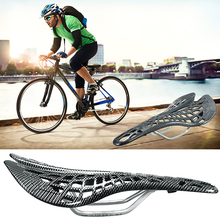 Bicycle Saddle Seat Cushion Spider Carbon Fiber PU Breathable Soft Cycling Accessories Mountain Road Bike Seats